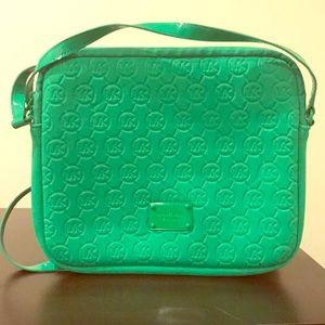Michael Kors green tablet bag